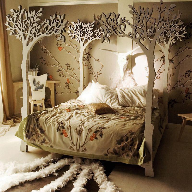 37. Кровать с балдахином дизайн, дом, идея, креатив