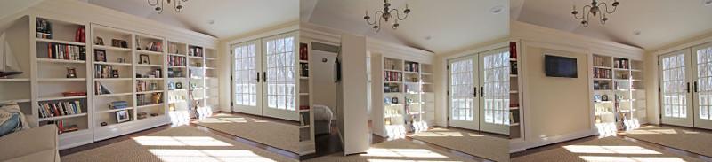 26. Спрятанная вращающаяся дверь-книжный шкаф дизайн, дом, идея, креатив