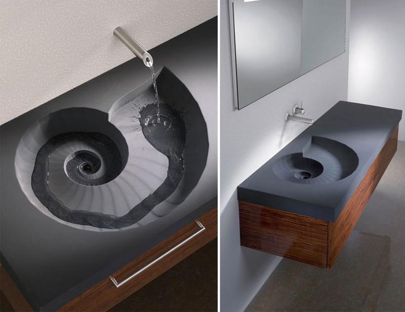 24. Раковина в форме ракушки  дизайн, дом, идея, креатив