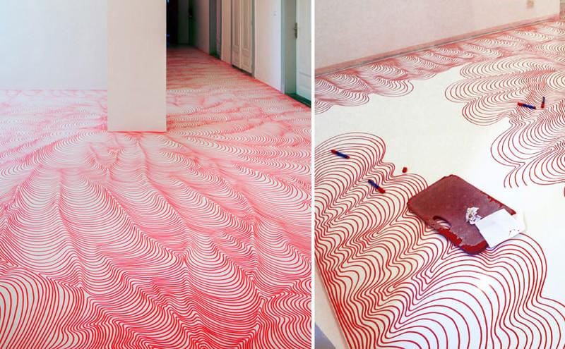 43.  Гипнотизирующие рисунки маркером  дизайн, дом, идея, креатив