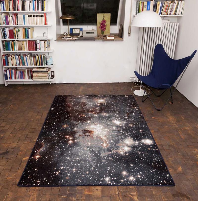 35. Космические туманности на ковриках  дизайн, дом, идея, креатив