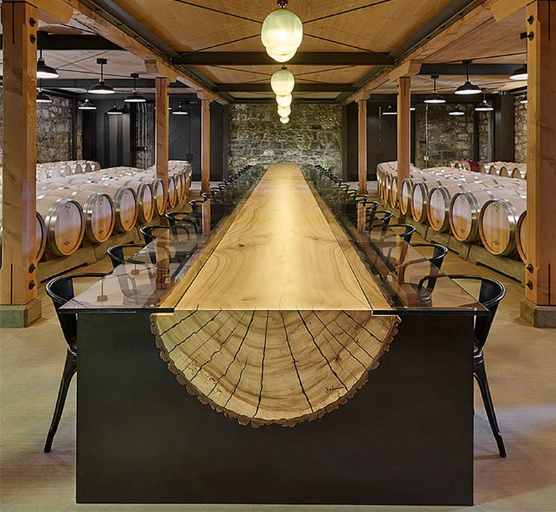 31.  Стол из распиленного бревна как идея украшения дизайн, дом, идея, креатив