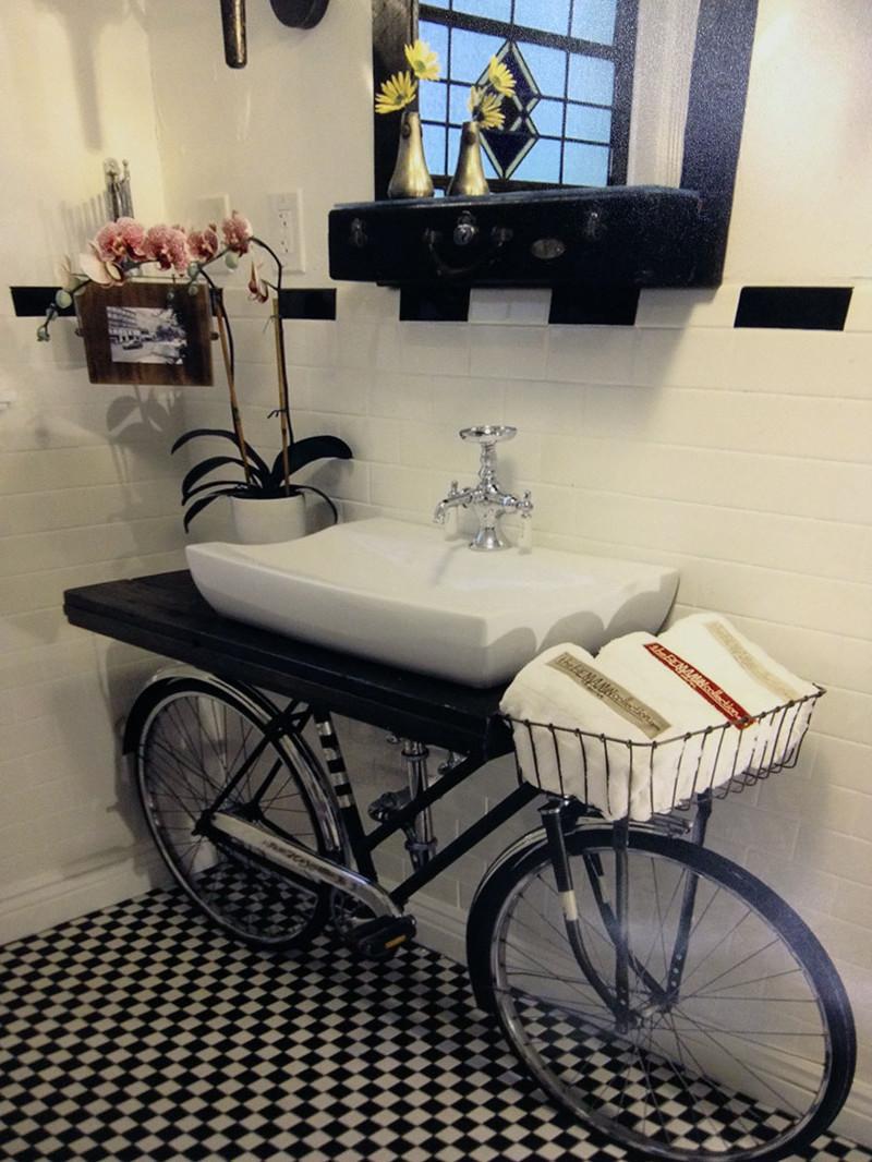 36.  Раковина-велосипед. дизайн, дом, идея, креатив