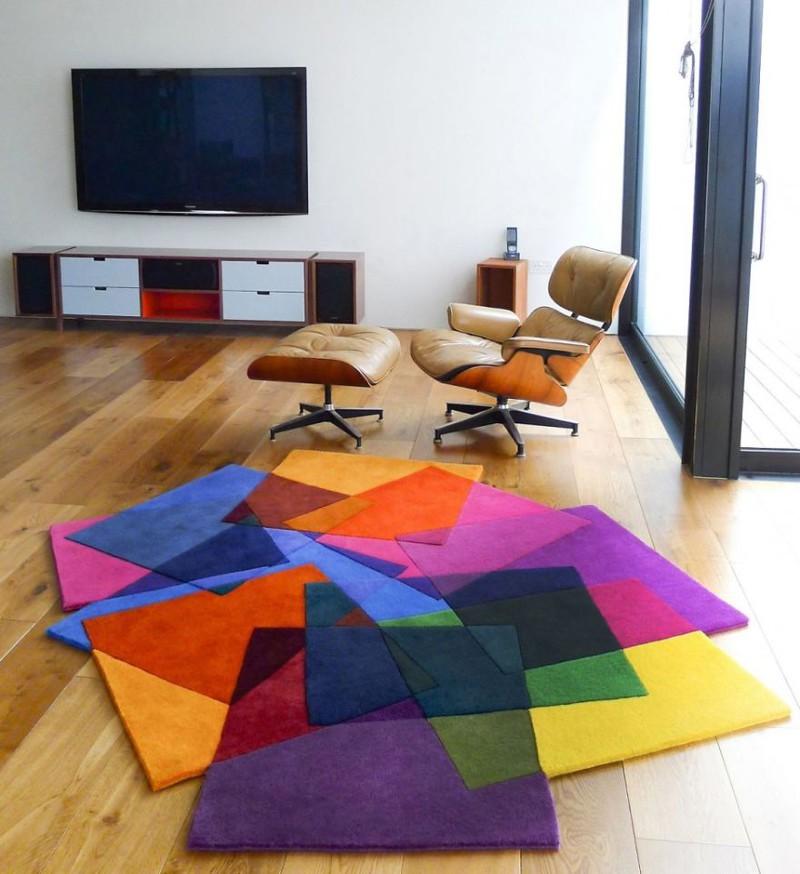 20. Красочный ковер дизайн, дом, идея, креатив