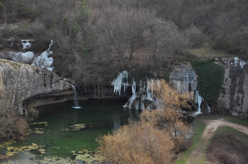 Водопад Мердвен Тубю (Мердвен-Тобю, Коба-Чаир) у села Родное в долине Чоргунь, Севастополь