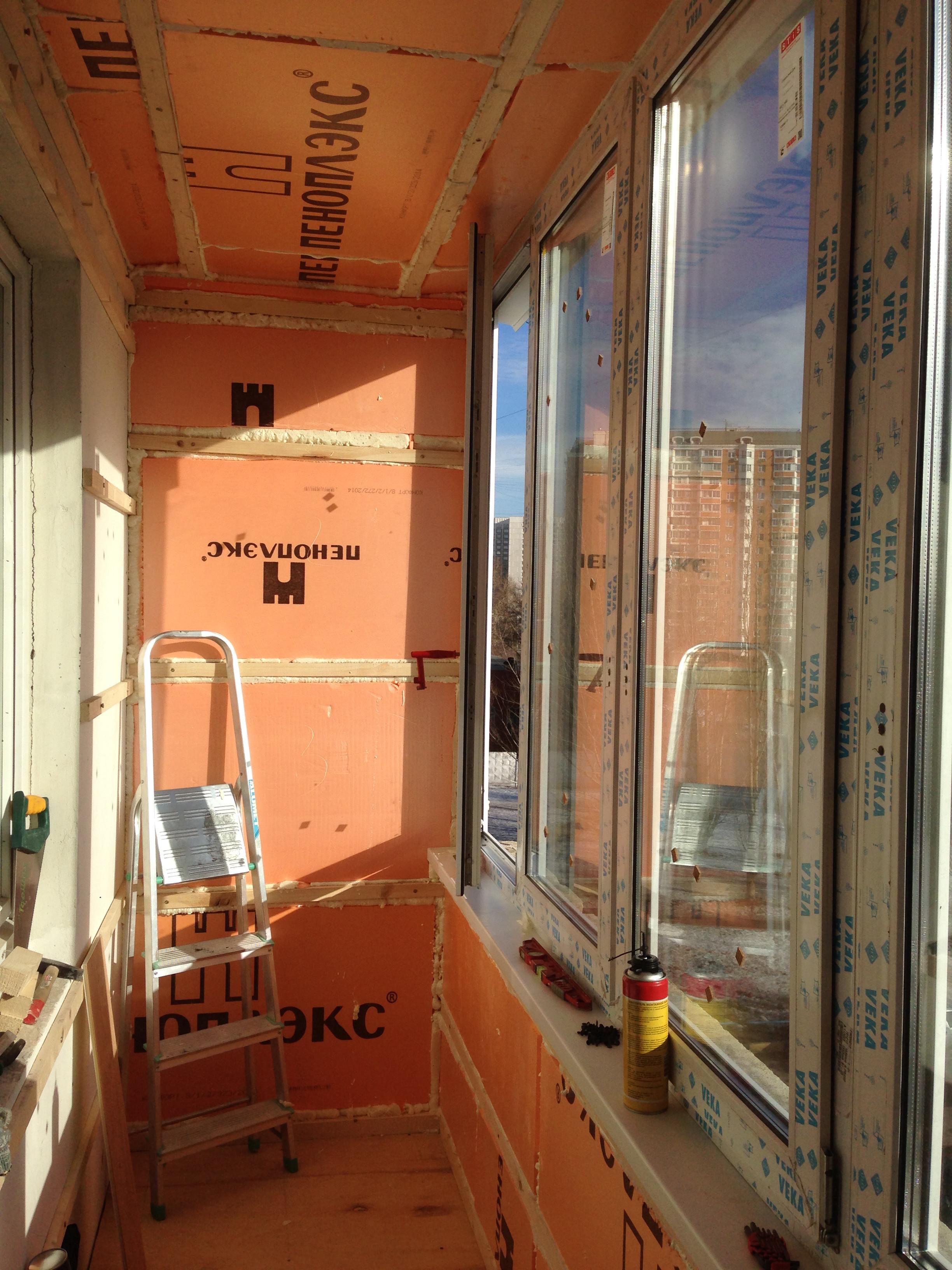 Ремонт балкона своими руками.