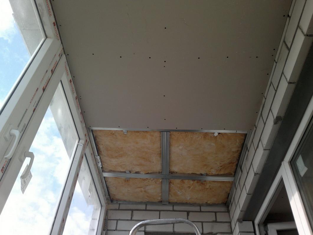 Ремонт балкона гипсокартоном фото..