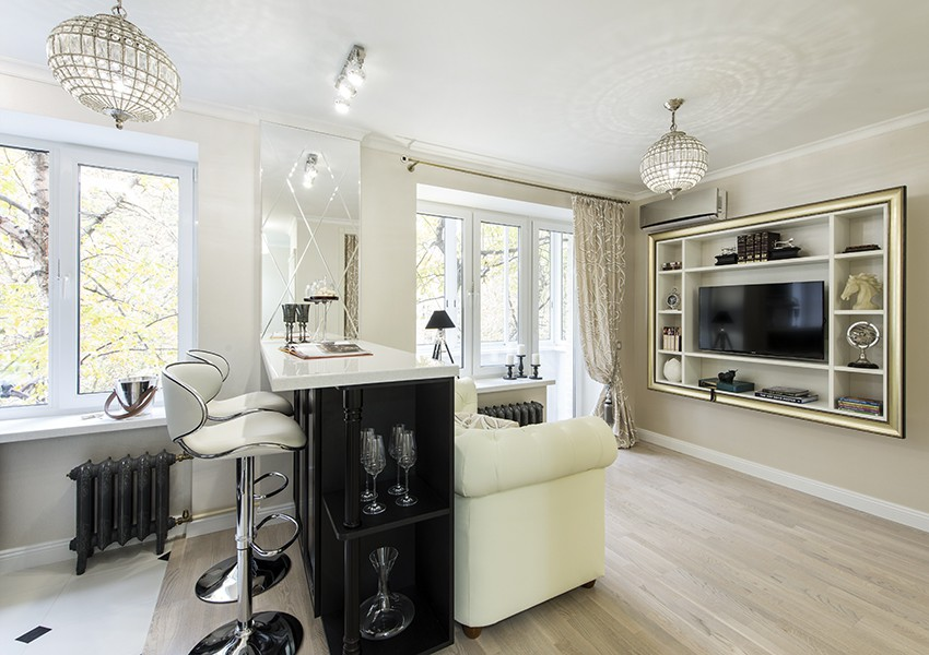 Кухня-гостиная дизайн, квартира, креатив, ремонт