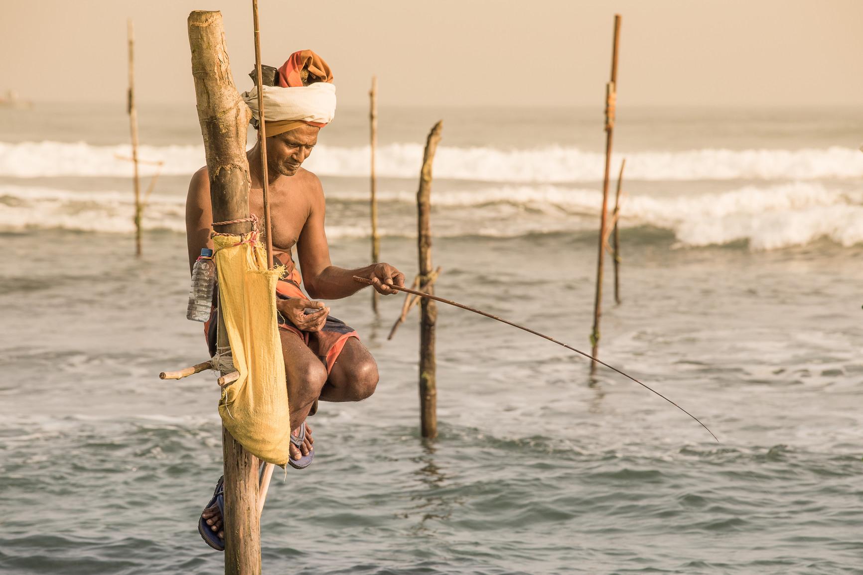Рыбалка в озерах шри-ланки