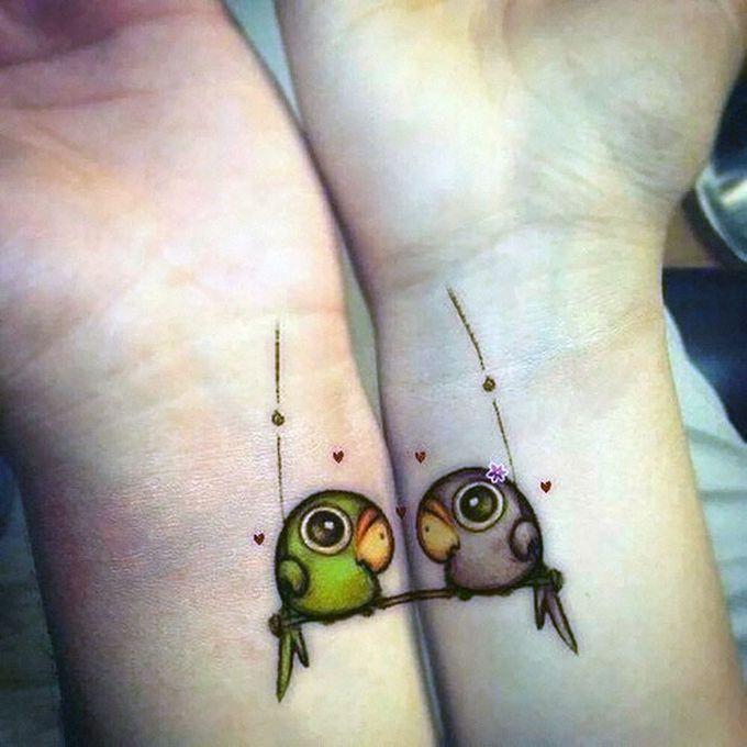 Парные татуировки: значение, 41 фото татуировки, эскизы 55