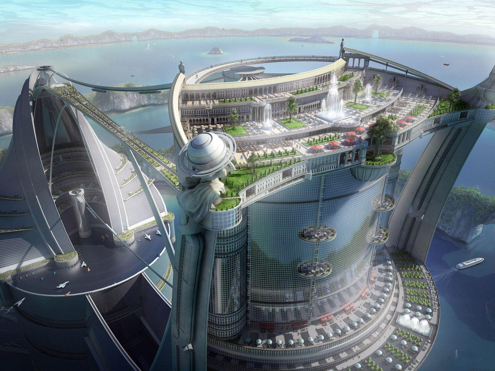 a utopian glimpse into a future built on solar power