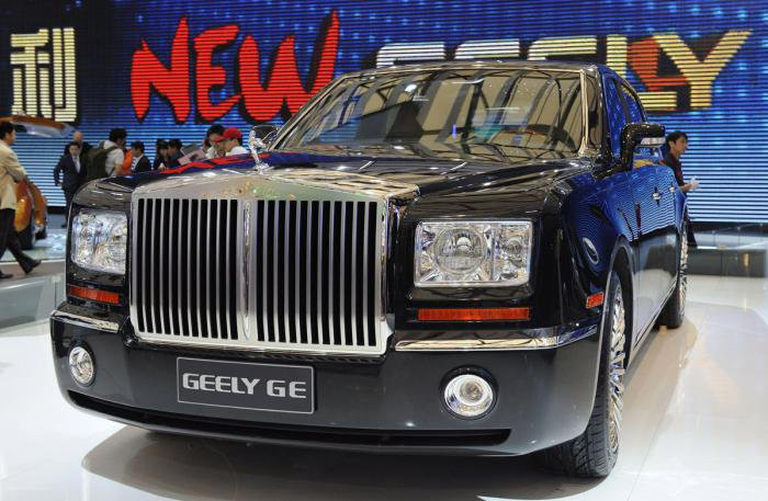 Geely GE и Rolls-Royce Phantom  автомобили, китай