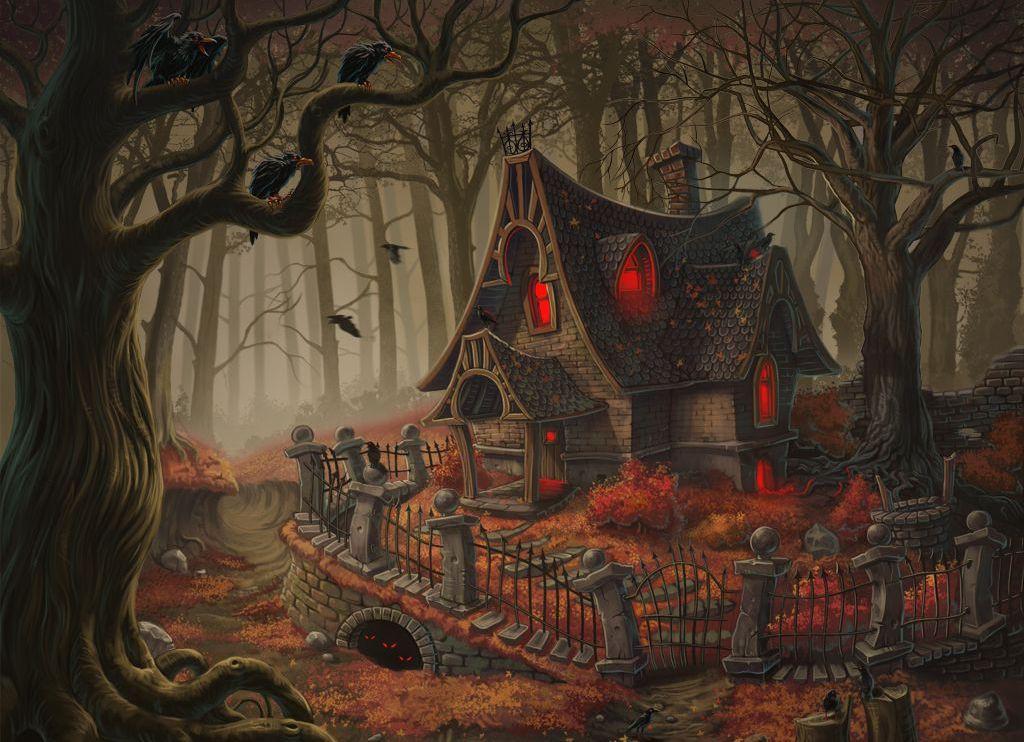 Картинка домик ведьмы