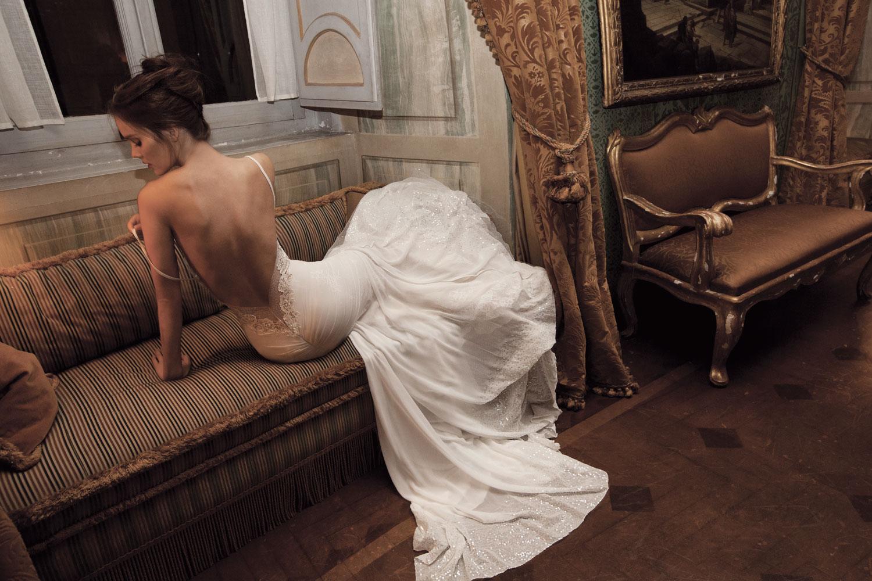 Секс в мокром свадебном платье