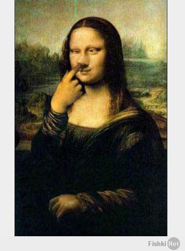 Картинки мона лизы прикольные