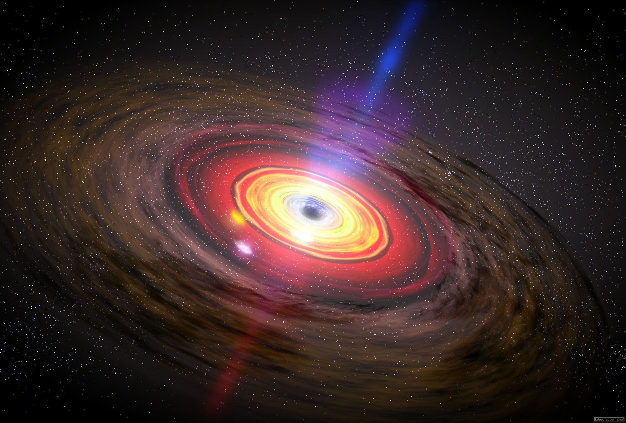 earth going into a black hole - HD 2000×1350