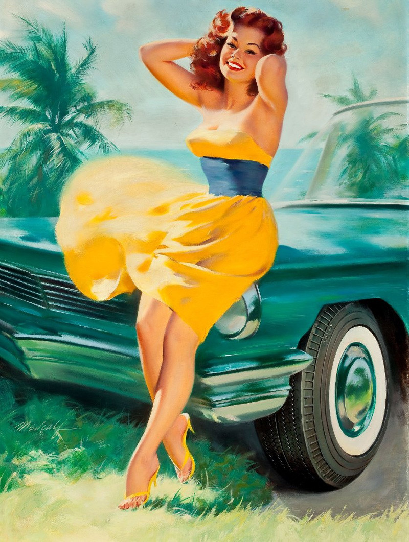 Открытки девушки 60-х