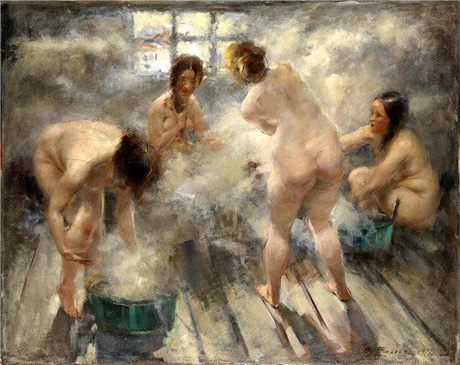 Бани моются девики