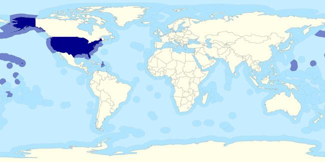 5. 50% всей территории США - ниже уровня океана. морские обитатели, океан, ужасы