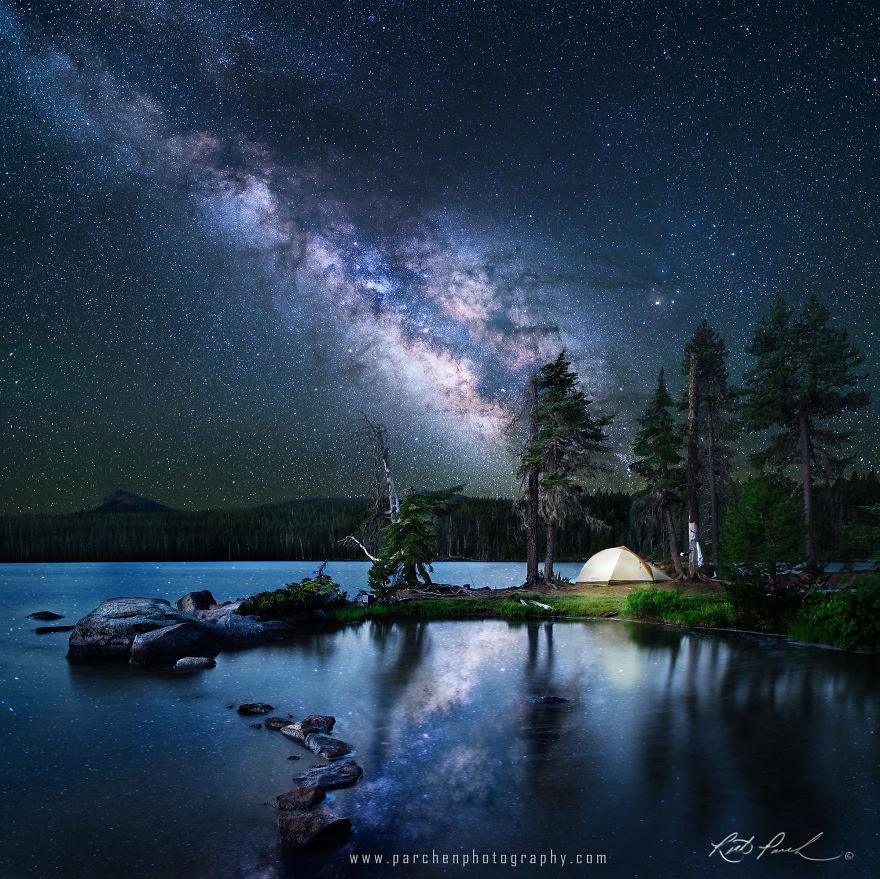Орегон, США астрономия, день, звезды, небо