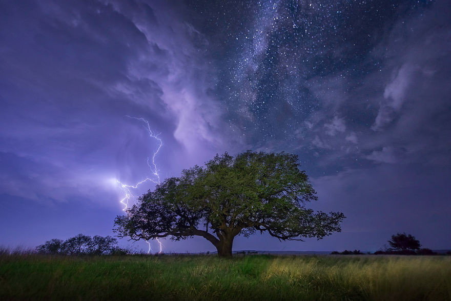 Техас, США астрономия, день, звезды, небо