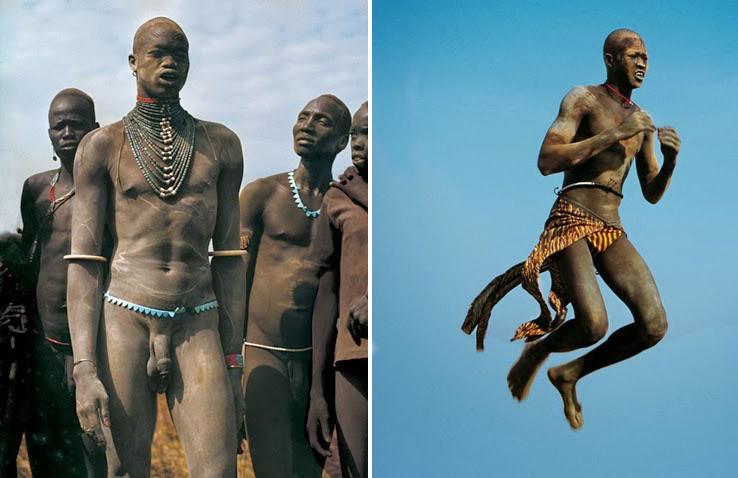 Смотреть как племена чернокожих вытягивали половые члены