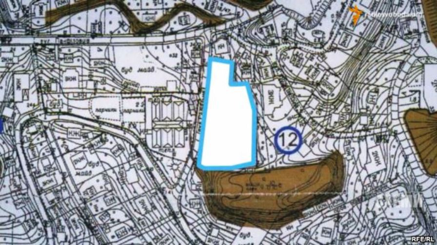 This map shows the proximity of Poroshenko's property to the 18th-century fortress. Порошенко, Радио Свобода, украина