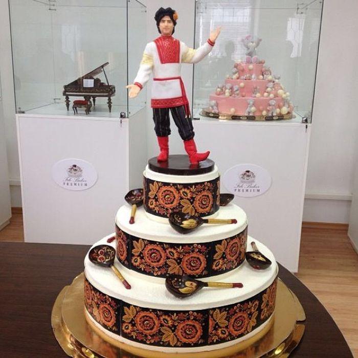 Необычный торт в русском стиле еда, торт