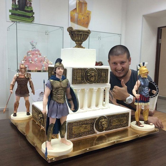 Торт с легионерами! Настоящий мужской торт еда, торт