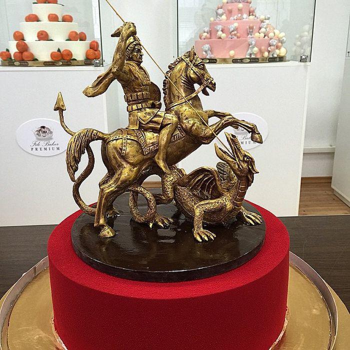 Георгий Победоносец! еда, торт