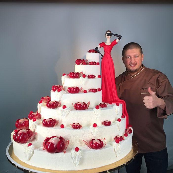 """Торт на мероприятие в стиле """"Lady in Red"""" еда, торт"""