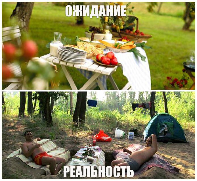 Супруги с друзьями поехали на пикник онлайн