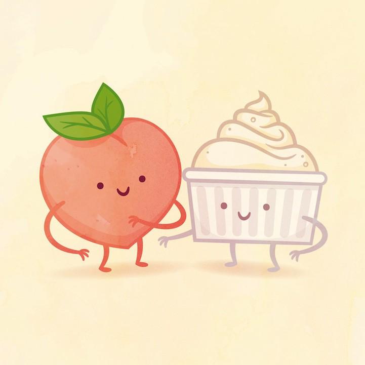 Рисунки прикольная еда