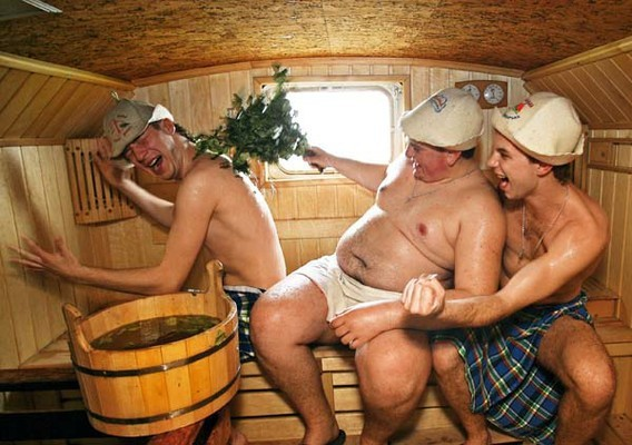 Голые муж жена в бане моему