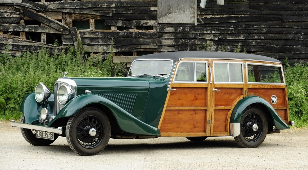 Bentley 3½  Shooting Brake  1935 год  авто, редкие автомобили, спорткар, универсал