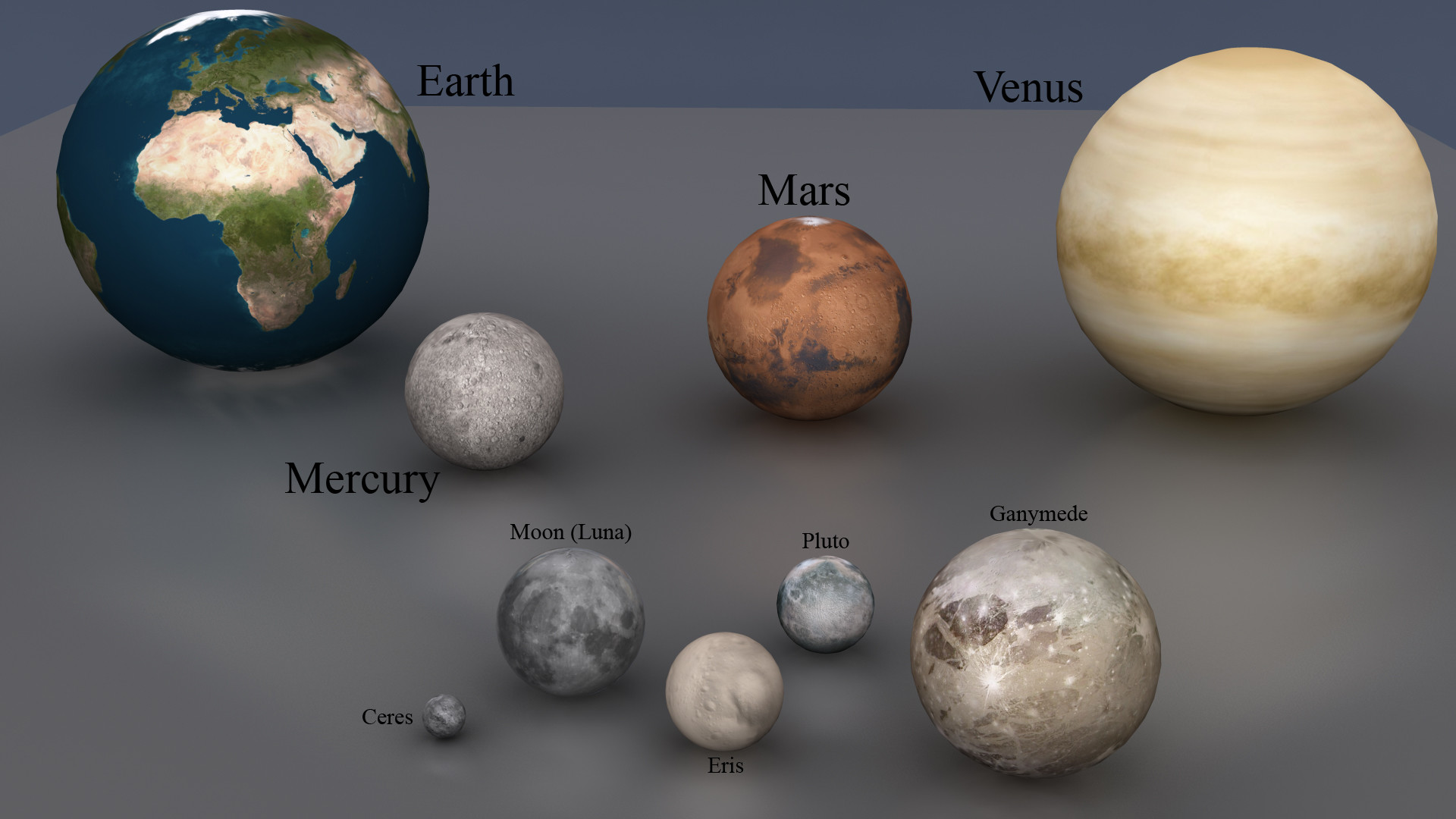 dwarf planets in our solar system - HD 1920×1080