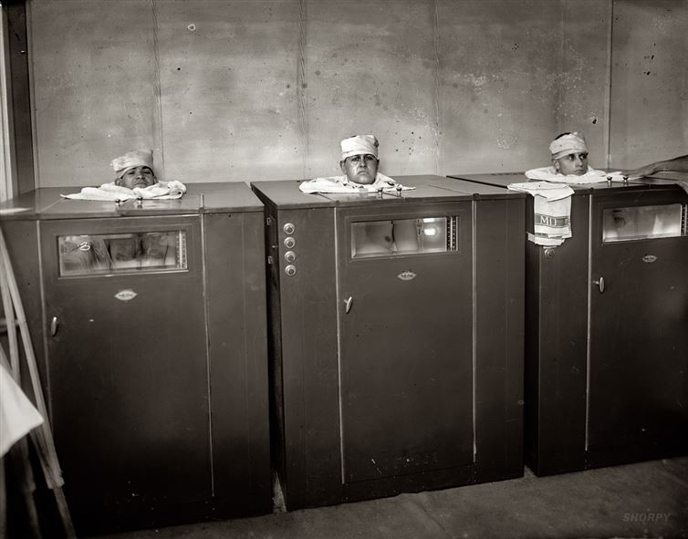 7. Физиотерапия, приблизительно 1920 год медицина, ретро, фото