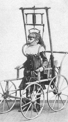 5.Спинной аппарат доктора Кларка рекламировался в 1878 году как аппарат, позволяющий людям с проблемами в спине ходить несколько минут – или даже часов – в день. медицина, ретро, фото