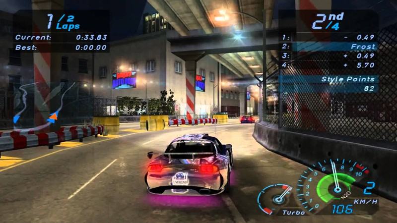 2. Need for Speed Underground гонки, игры