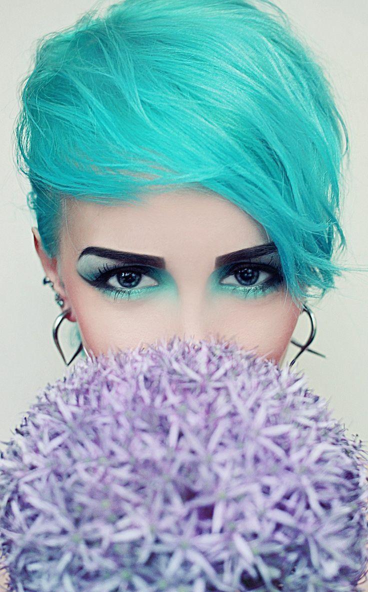 6. Макияж под цвет волос - это бомба! девушки, макияж