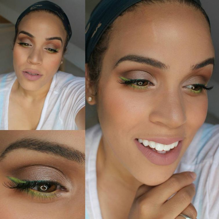 14. Разбавьте свой повседневный макияж яркими элементами девушки, макияж