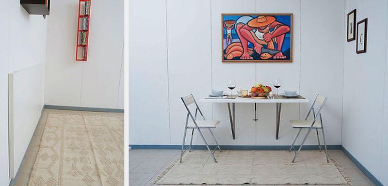 24. Установите стол, который можно сложить кухня, обустройство