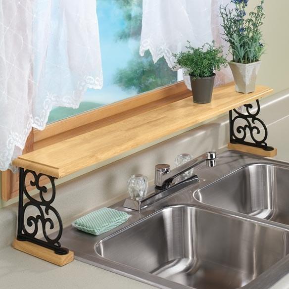 7. Установите полочку над раковиной кухня, обустройство