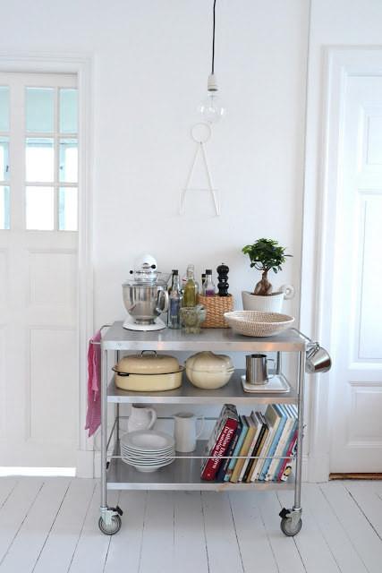 25. Кухонная тележка — многофункцональный помощник кухня, обустройство
