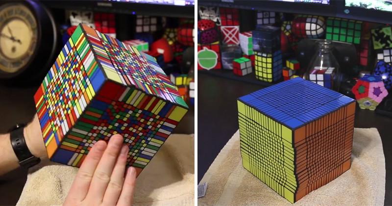 5. Кубик Рубика 17x17. Мировой рекорд сборки: 7,5 часов! интересное, удивительные фотографии, фото
