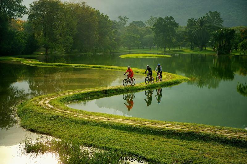 8. Велосипедная дорога в пригороде Рио-де-Жанейро, Бразилия. интересное, удивительные фотографии, фото
