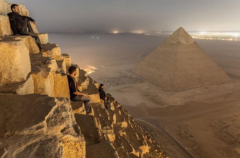 1. Вид с пирамиды Хеопса. интересное, удивительные фотографии, фото