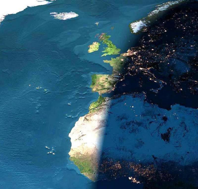 17. Земля днём и ночью. интересное, удивительные фотографии, фото