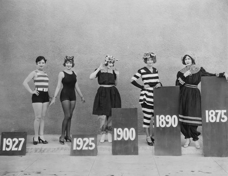 6. Эволюция женского купальника с 1875 по 1927 год. история, фото