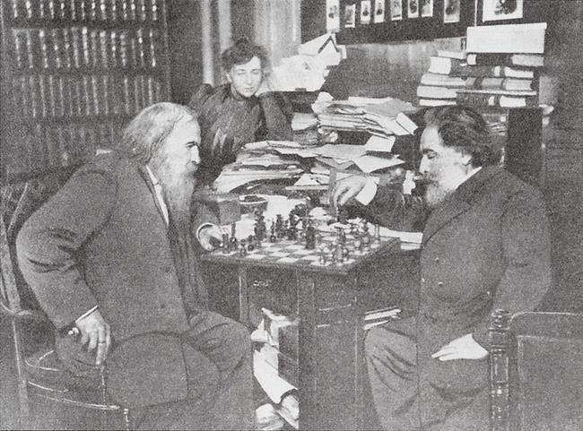 Д.И.Менделеев и А.И.Куинджи за шахматами, 1907 год знаменитости, история, редкие кадры, фото
